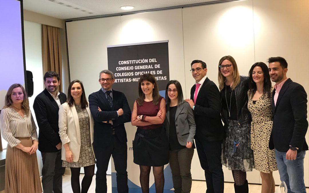 Comunicado constitución Consejo General de Colegios Oficiales de Dietistas-Nutricionistas (CGCO-DN)